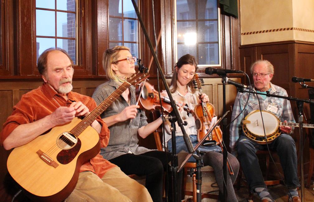 Oren Tikkanen, Sara Pajunen, Laura Ellestad, and LeRoy Larson perform at the first of two evening concerts
