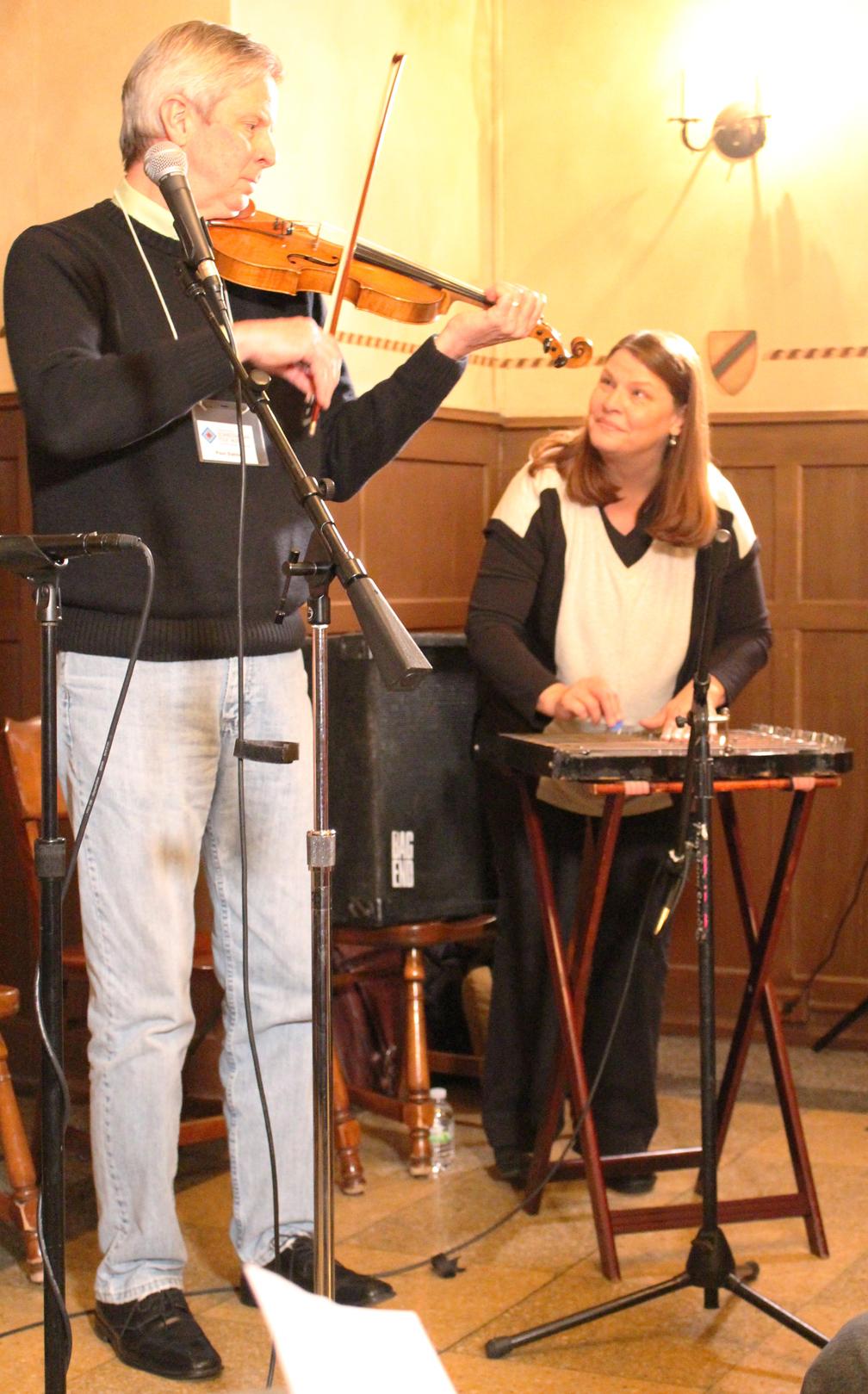 Paul and Marikay Dahlin perform at the University Club, Madison, WI