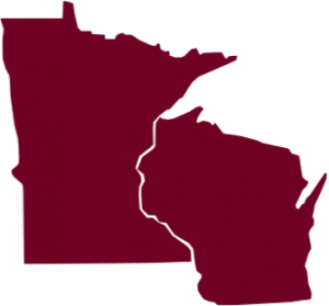 Map of Minnesota and Wisconsin