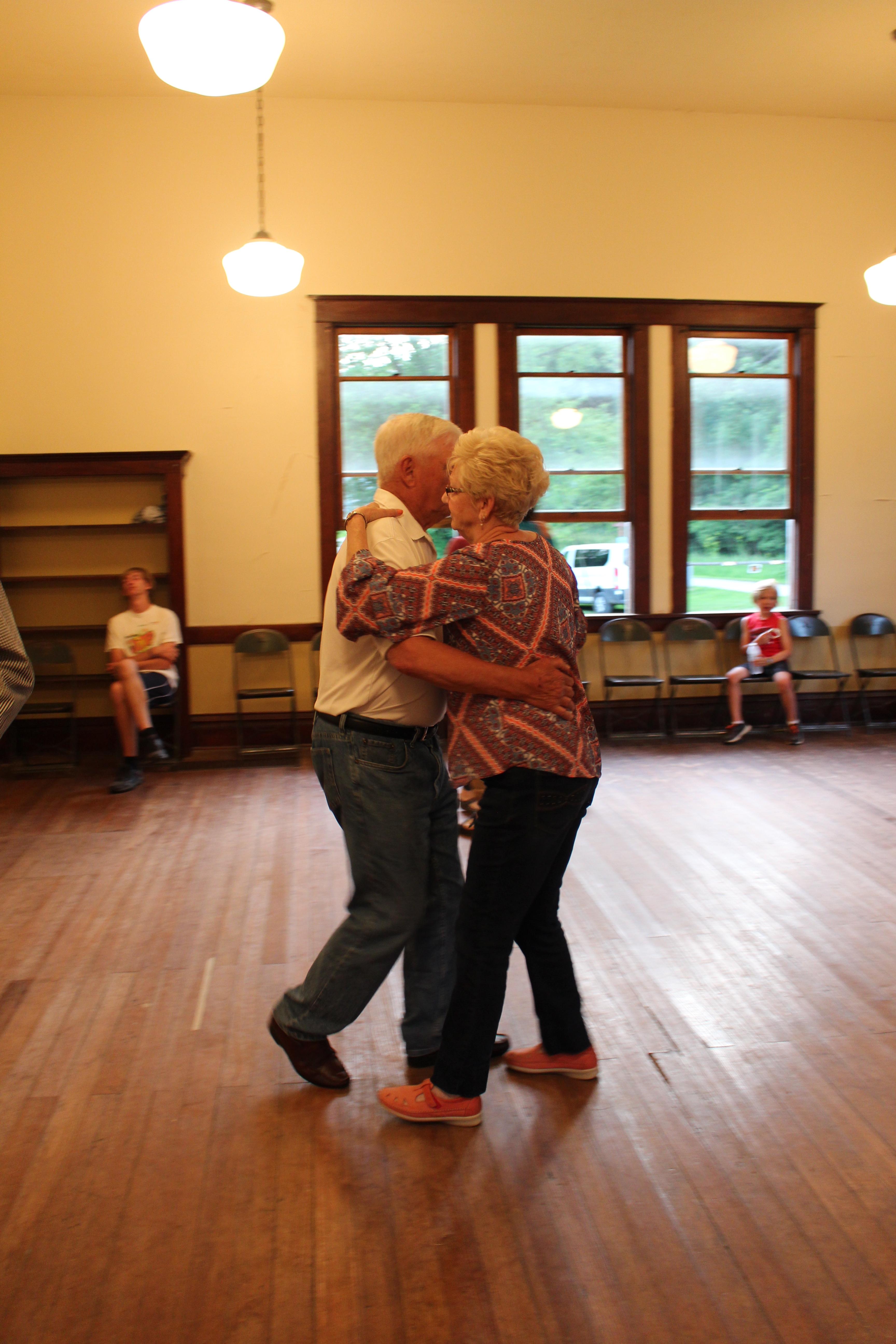 David and Carol Alstad dancing.
