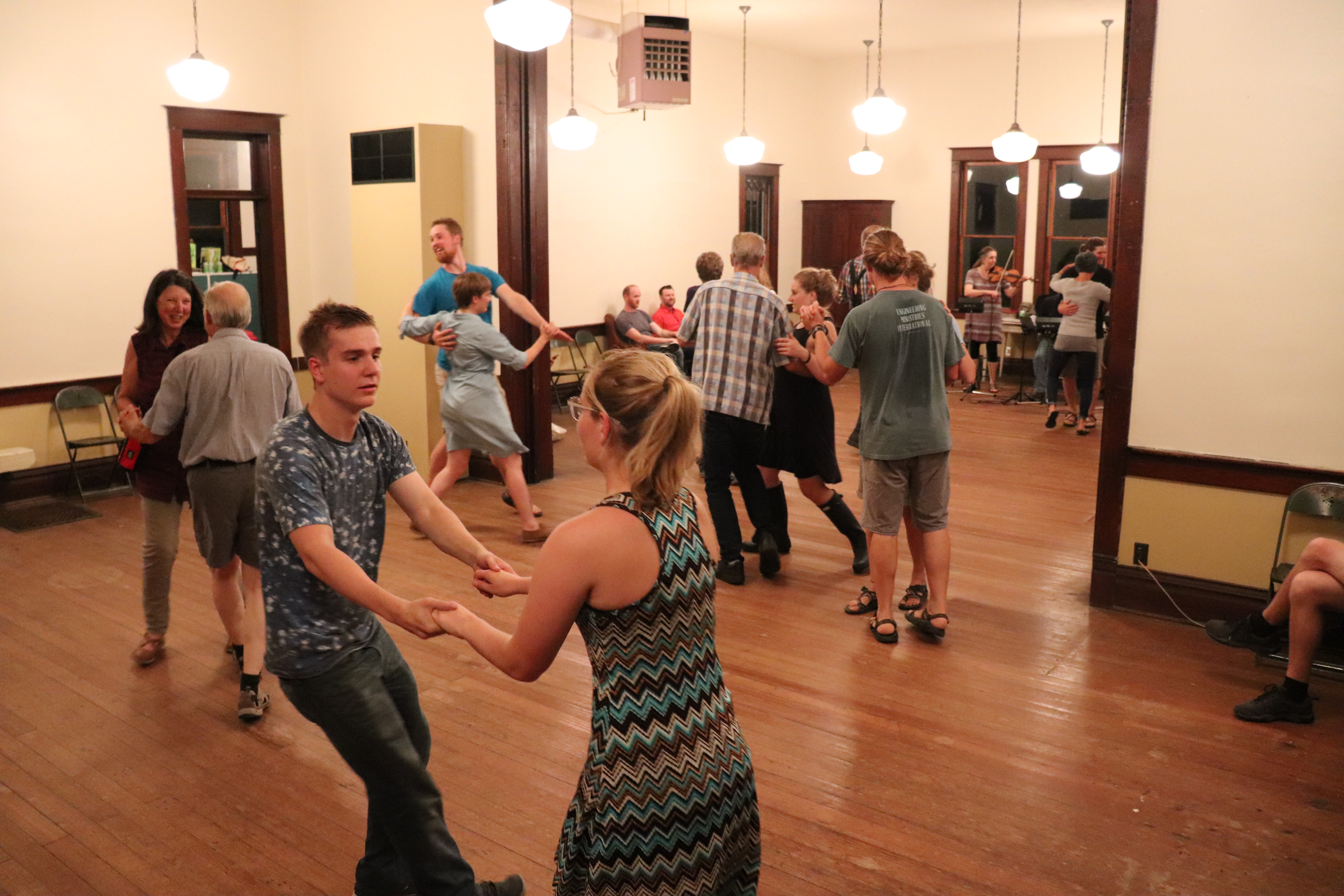 Many couples dancing.