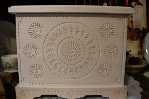 Box carved with